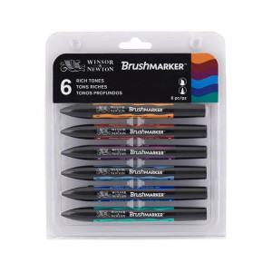 Set de 6 brushmarkers couleurs de tons riches