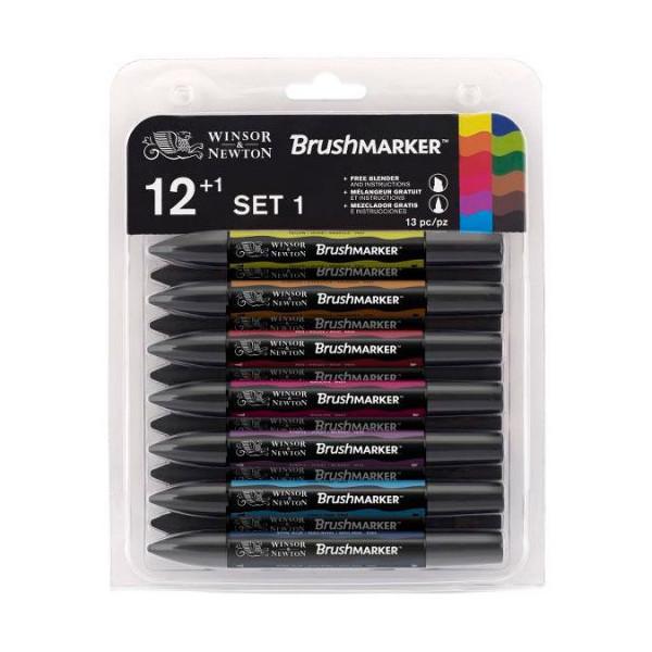 Set de 12 Brushmarker  + blender offert  - Set n°1