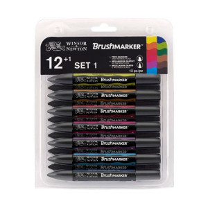 Set de 12 Brushmarker  + blender offert  - Set n°1