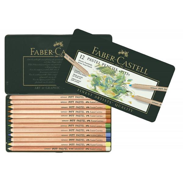 Boîte métal de crayons Pastel PITT - Faber-Castell