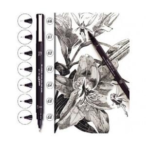 Pochettes de 5 feutres PIN calibrés