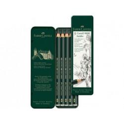 Boîte de 5 crayons Castell 9000 Jumbo - Faber-castell