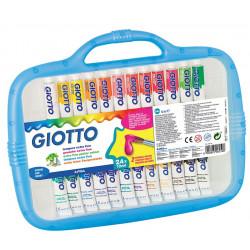 Valisette de 24 tubes de gouache + pinceaux - Giotto