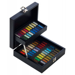 Coffret bois noir - 60 pastels à l'écu - Sennelier