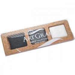 Assortiment de pavés aquarellables - Noir, gris et blanc - ArtGraf