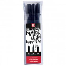 Set de 3 Pigma brush pen - Pointes pinceaux
