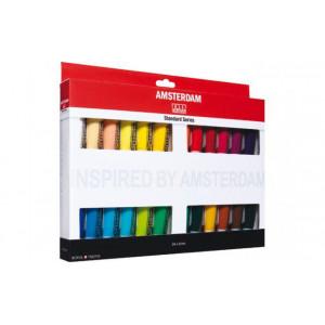 Set 24 tubes de peinture acrylique Amsterdam 20ml