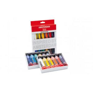 Set 12 tubes de peinture acrylique Amsterdam 20ml