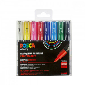 Set de 8 POSCA - pointe extra-fine - PC1MC