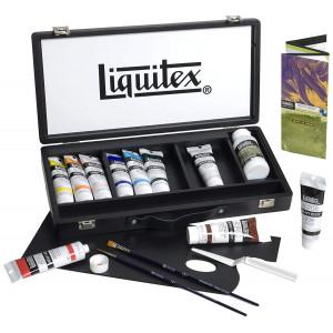 Coffret bois acrylique extra-fine Heavy Body - Liquitex