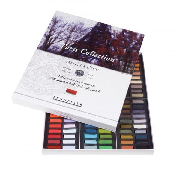 Boîte de 120 demi-pastels à l'écu Sennelier - Paris Collection