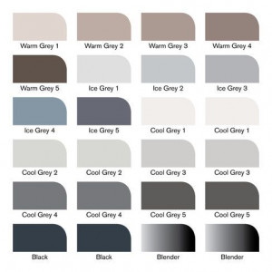 Set 24 Promarker - Tons gris - Winsor & Newton