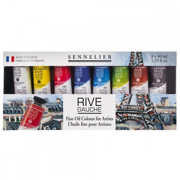 Set huile Rive Gauche 8x40ml  - Sennelier