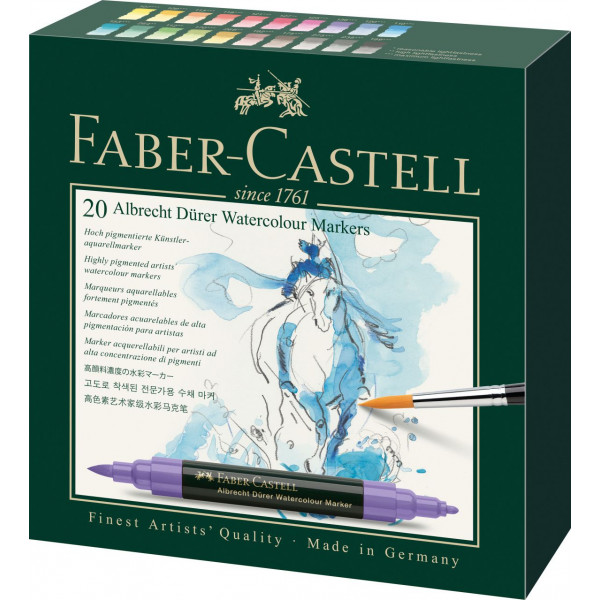 Boîte de 20 marqueurs aquarellables Albrecht Dürer - Faber-Castell