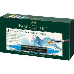 Boîte de 5 marqueurs aquarellables Albrecht Dürer - Faber-Castell