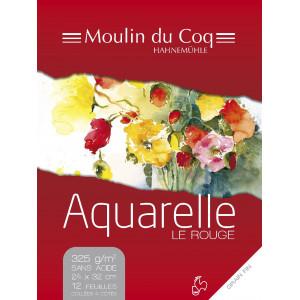 """Bloc aquarelle """"Le rouge"""" 335gr - Hahnemühle"""