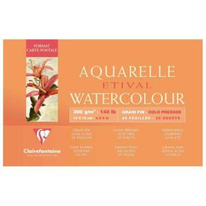 Papier aquarelle Etival - grain fin - Clairefontaine