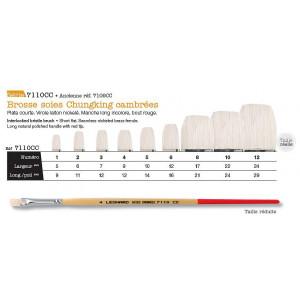 Pinceaux soie cambrée - série 7110 - Léonard
