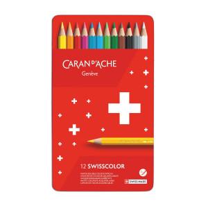 Crayons de couleurs aquarellables SwissColor - Caran d'Ache