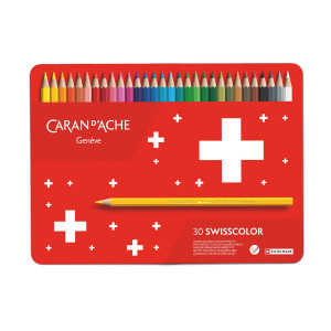 Crayons de couleurs aquarellables SwissColor - Caran d'Ache