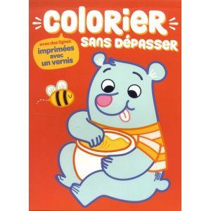 OURS COLORIER SANS DEPASSER - Livre