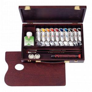 Coffret acrylique10 tubes et accessoires Rembrandt Traditional