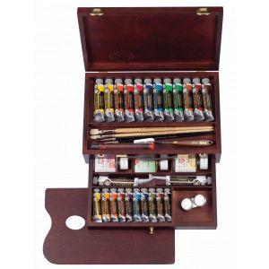 Coffret Huile complet tiroir 24 tubes Rembrandt et accessoires