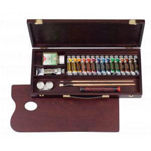 Coffret Huile complet tiroir 15 tubes Rembrandt et accessoires
