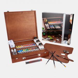 Coffret Huile fine Van gogh Expert 26 tubes auxilliaires et accessoires