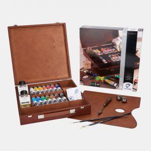 Coffret Huile fine Van gogh Inspiration 14 tubes auxilliaires et accessoires