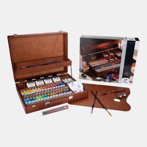 Coffret Huile fine Van Gogh Supérieur 26 tubes auxilliaires et accessoires