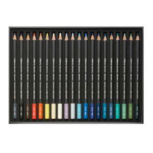 Contenu du set 20 crayons aquarelle Museum, bord de mer de Caran d'Ache