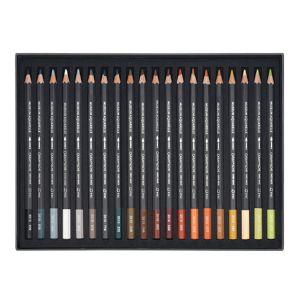 Contenu de la boîte de 40 crayons aquarelle Museum - Caran d'Ache