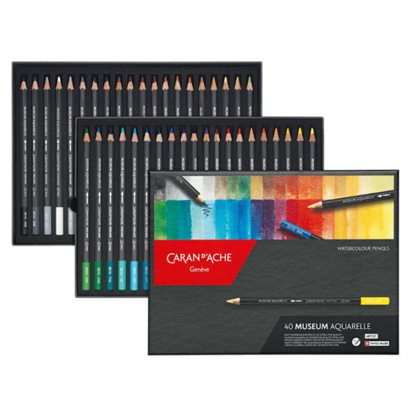 Boîte de 40 crayons aquarellable Museum Caran d'Ache