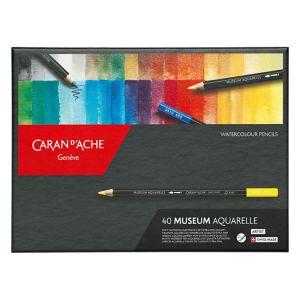 Set en carton de 40 crayons aquarellable Museum - Caran d'Ache