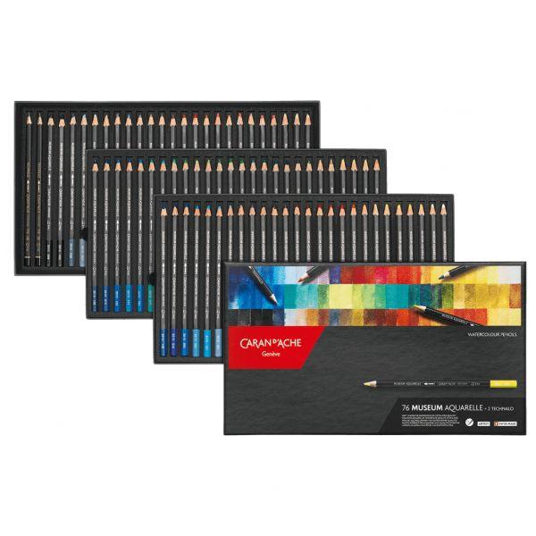 Boîte de 76 crayons aquarelle Museum - Caran d'Ache