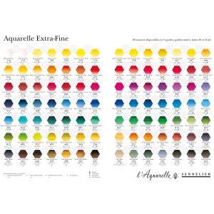 nuancier couleurs aquarelle extra-fine Sennelier
