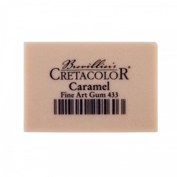 Gomme caramel Cretacolor en caoutchouc