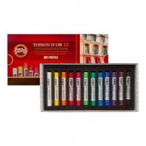 Boîte de 12 pastels secs Toison d'or - Koh-I-Noor