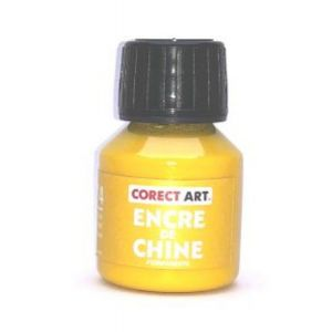 Encre de chine de couleur jaune