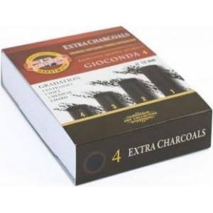 Boîte de 4 fusains compresssés