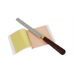 Couteau à dorer professionnel pour découpe de feuille d'or