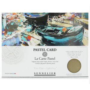 Pochette de 6 Pastel Card gris clair Sennelier