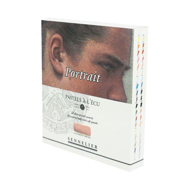 Boîte de 40 pastels à l'écu Sennelier pour la réalistion de portrait au pastel