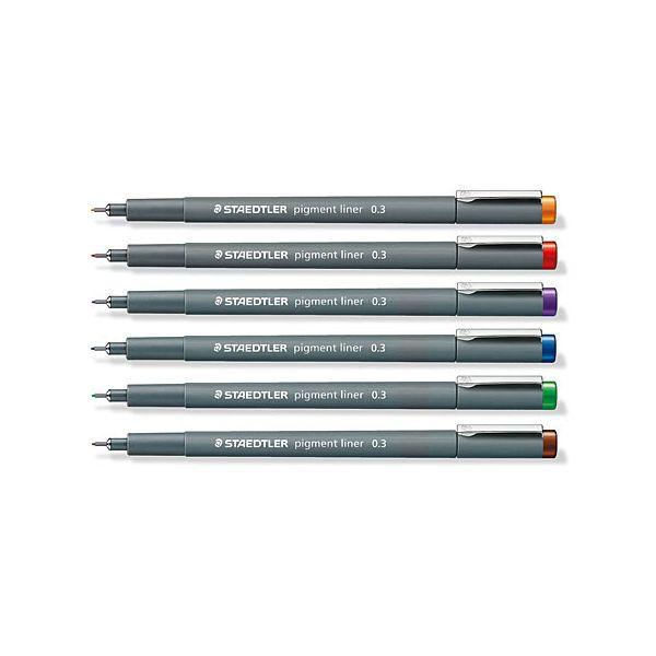 Feutres Pigment Liner de couleurs - Staedtler