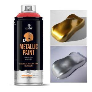 Bombe de peinture effet métallique - Montana