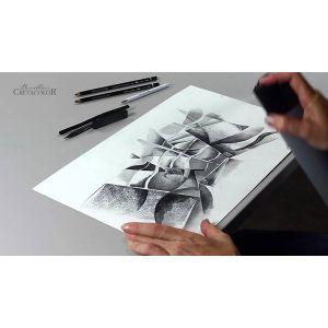 Dessin au fusains et crayons Cretacolor