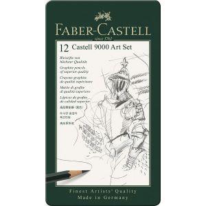 Boîte de 12 crayons graphite Castell 9000 Faber-Castell