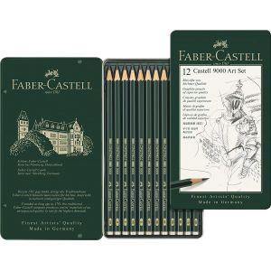 Boîte de 12 crayons graphite - Art set - Faber-Castell
