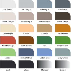 24 couleurs du set Architecte Promarkers